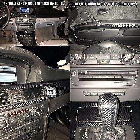 3er E90 3d Carbon Folie Zierleisten Set Mit Profi Rakel Und Skalpell Von Wizuals C E90 E91 E92 E93 Fur Alle E90er Modelle Amazon De Auto