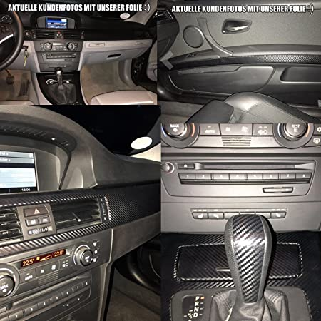3er Original 3d Carbon Zierleisten Set 15 Teiliges Folienset Aus 3d Carbon Schwarz Folie Für Den Innenraum Ihres Fahrzeuges 3er E92 2005 2013 Auto
