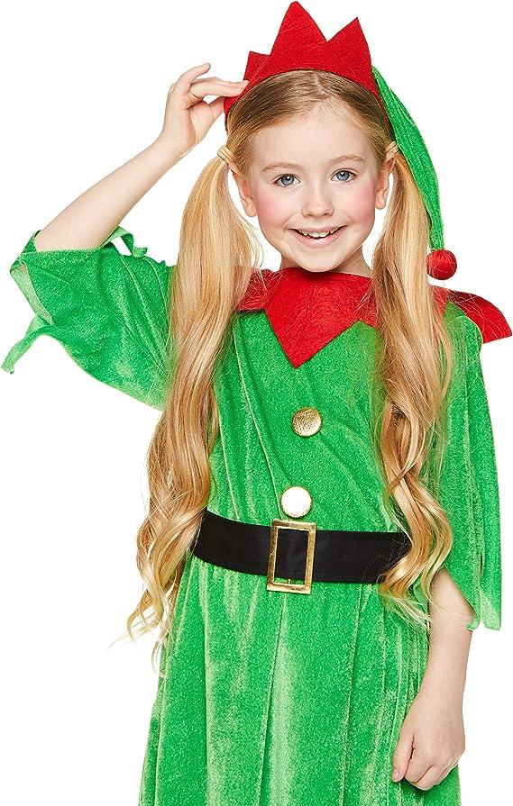 Amazon.com: Disfraz de elfo de Navidad para niña – Cosplay ...