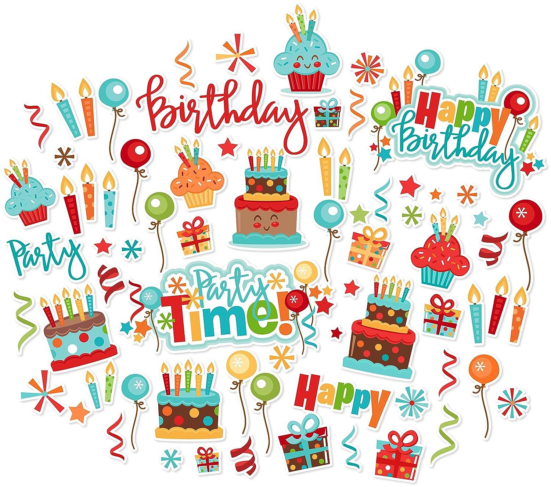 by Miss Kate Cuttables Birthday Over 60 Cardstock Scrapbook Die Cuts Paper Die Cuts