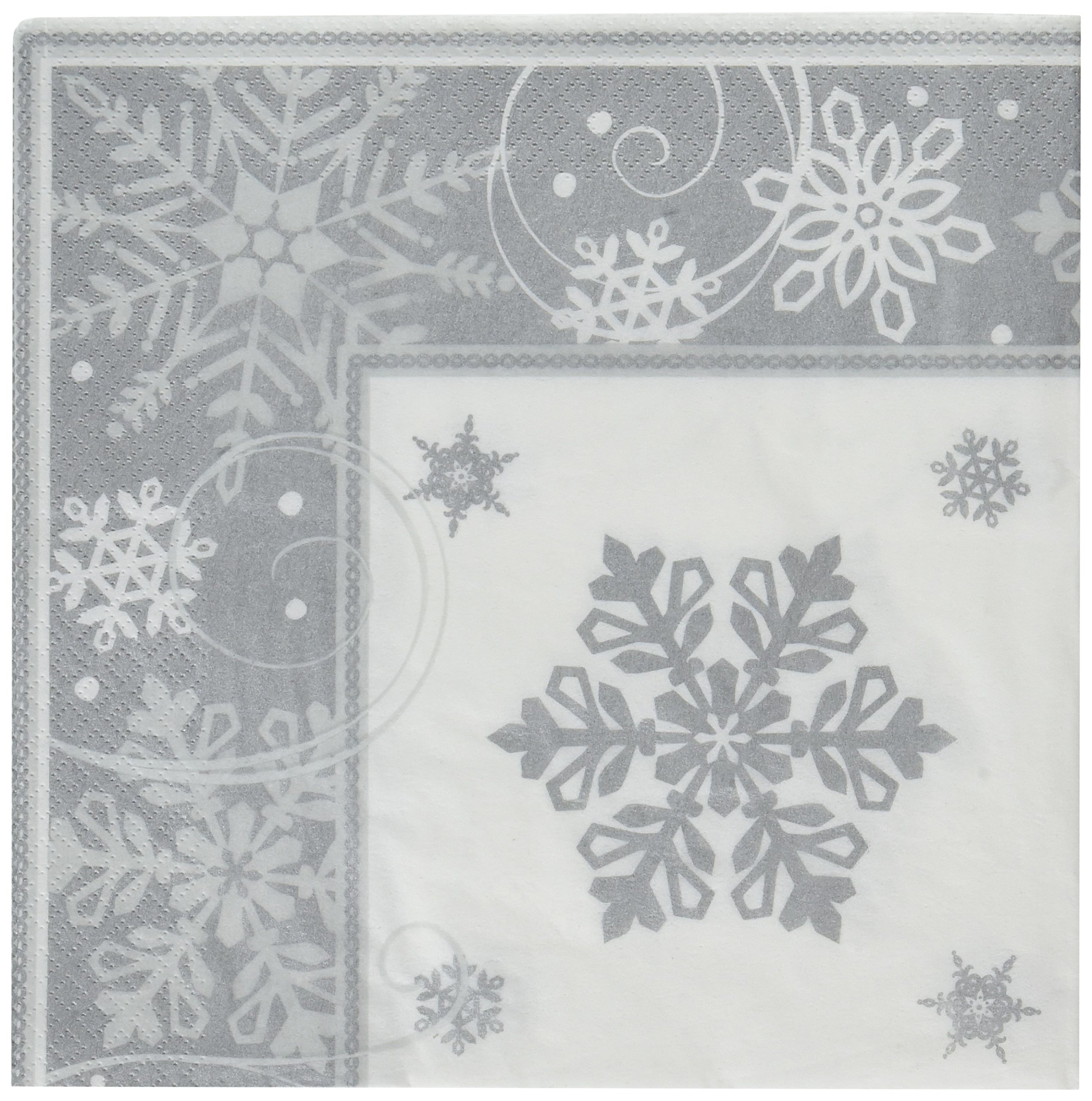 Amscan Party Dinner Plates Childrens Napkins, White by Amscan