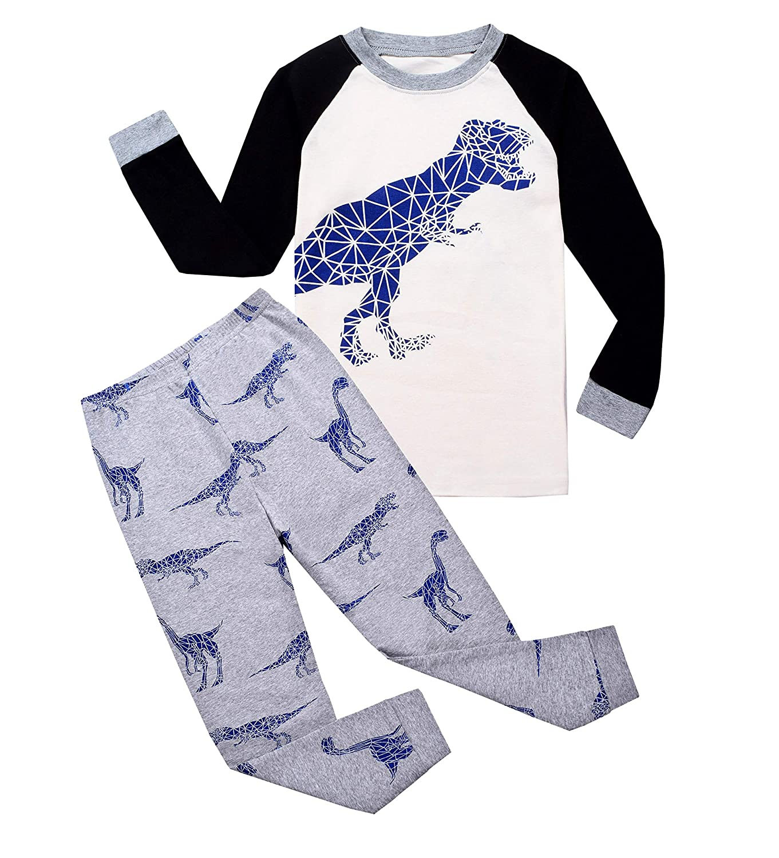 Garsumiss Kids Dinosaur Pyjamas Sets Children Clothes Set Boys Cotton Nightwear Toddler Pjs Sleepwear 1-8 Years GA70501
