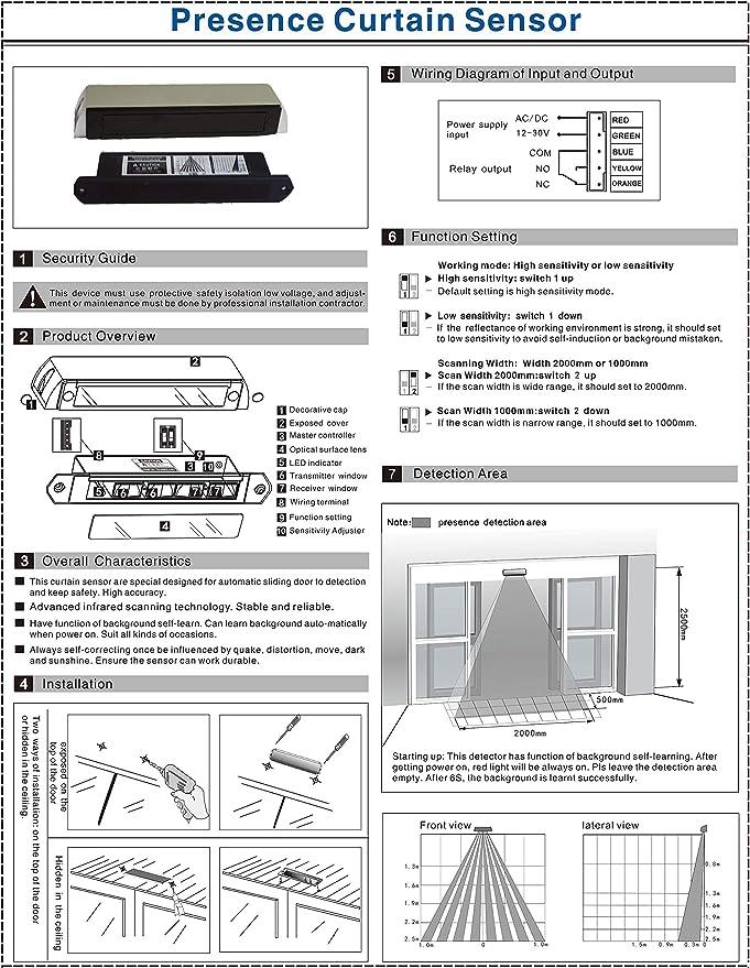 UHPPOTE Pet Presence Sensor Detector Part for Auto-Door Automatic ...