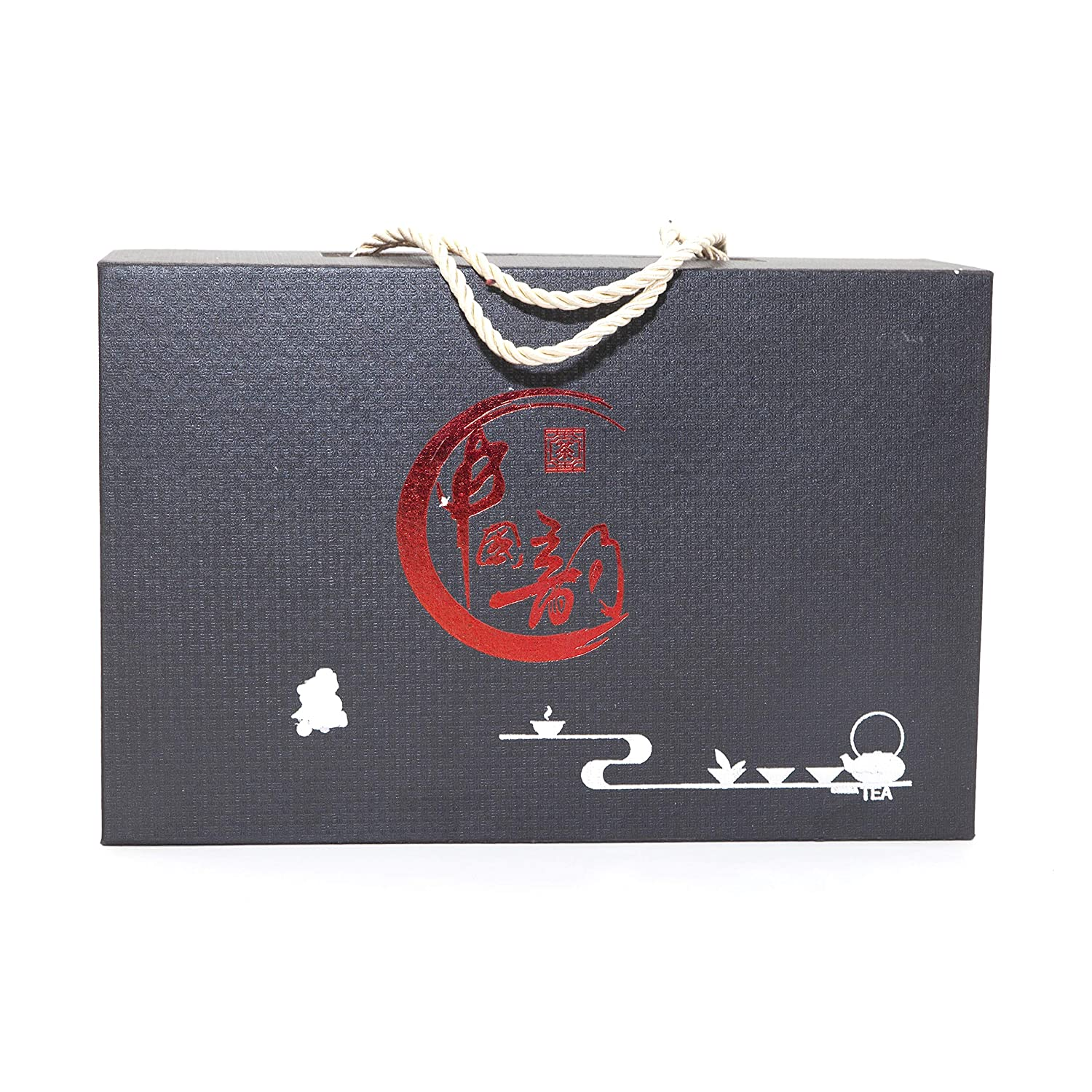 NEWQZ Japanese Sake Set with a Gift Box Traditional Ceramics Black Sake Sets 1 Pot and 6 Cups