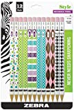 Zebra Style #2 Mechanical Pencil, 0.7mm Point Size, Assorted Barrel Patterns, 12-Count