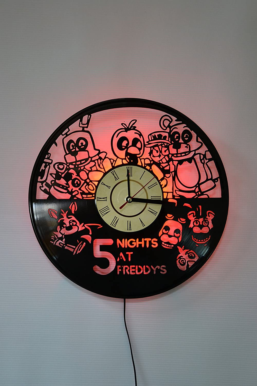 Five Nights at Freddy's Design Wall Light, Night Light Function, Original Home Interior Decor, Wall Lamp, Perfect Gift (Red) Home Decor Accents