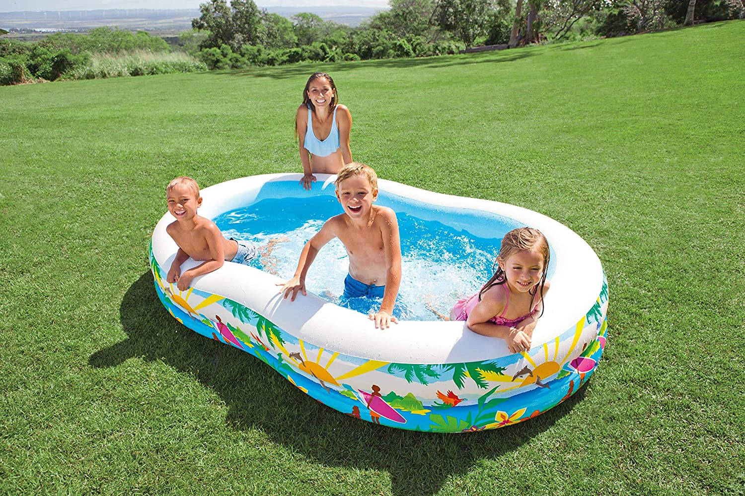 Intex 56490NP - Piscina hinchable rectangular 262 x 160 x 46 cm ...