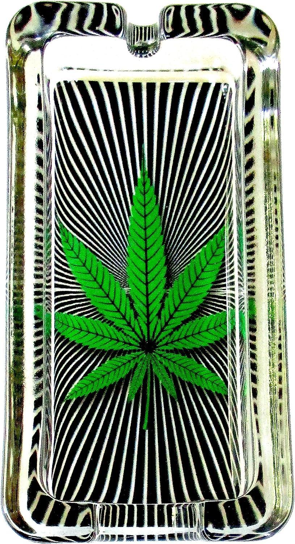 Everything Else Marijuana Weed Hypnotizing Glass Ashtray