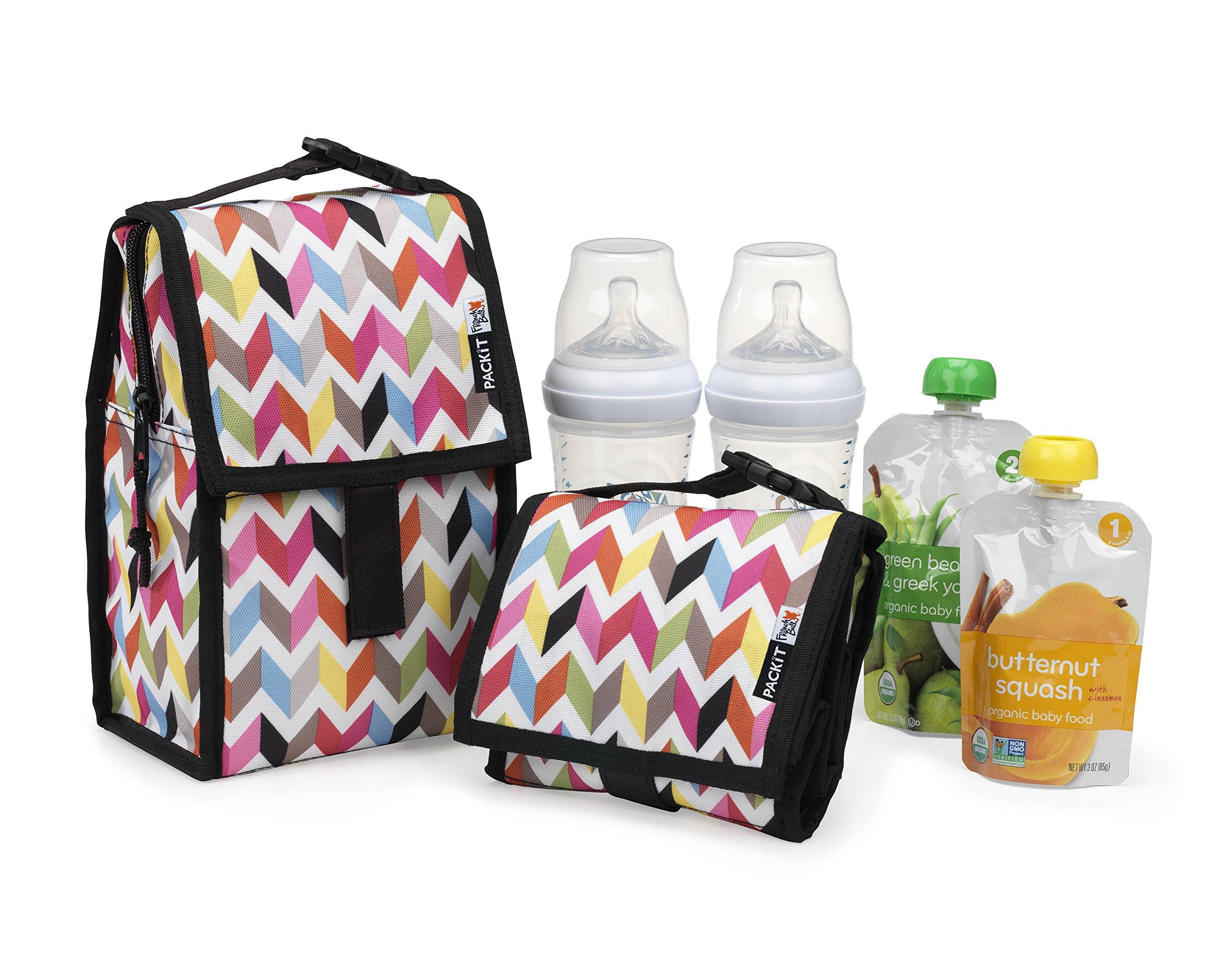 PackIt Freezable Baby Bottle Bag with Zip Closure, Double Bottle, Ziggy