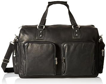 2235533fe41f Amazon.com | Piel Leather Multi-Pocket Leather Carry-On, Black, One ...