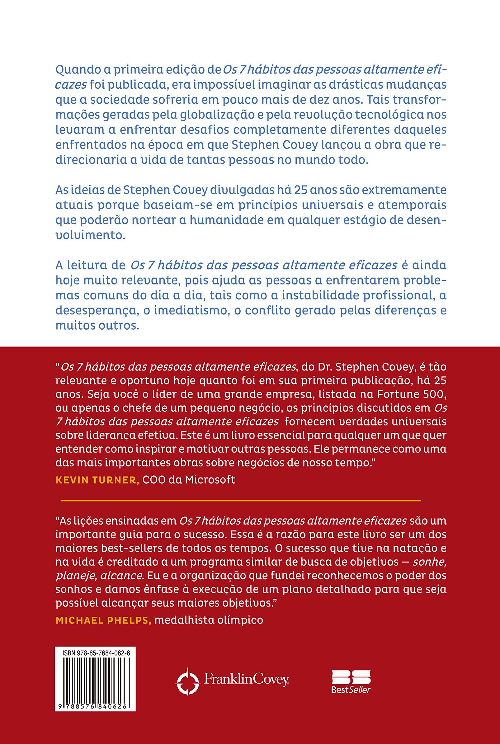 47a4625a7d59 Os 7 Hábitos das Pessoas Altamente Eficazes - Edição Customizada: Lições  poderosas para a transformação pessoal - 9788576840626 - Livros na Amazon  Brasil