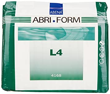 Amazon.com: Abena Abri-Form Comfort Briefs, Large, L4, 12 Count ...