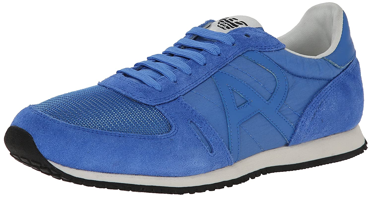 Armani Jeans Men's Runner AM524261P Fashion Sneaker Blue 6.5 UK/7 M US Runner Sneaker Am52426s3