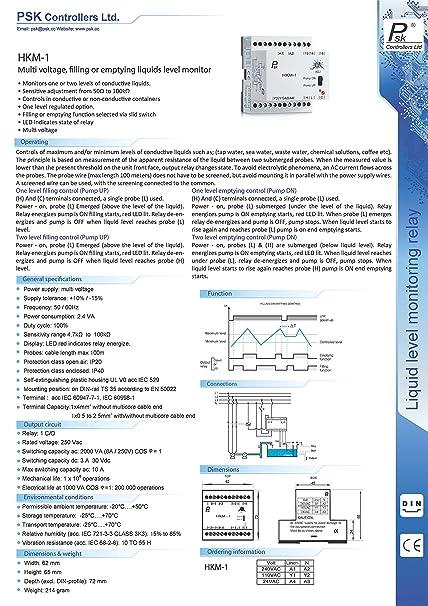 PSK Pump-Up/Down Liquid Level Controller, 120VAC, 10Amp: Amazon com