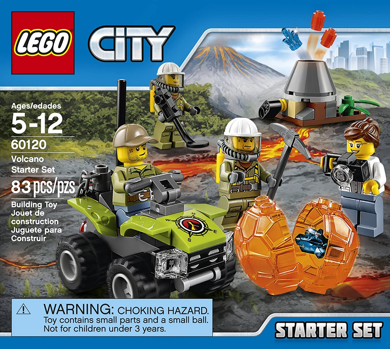 330 Piece LEGO City Volcano Explorers 60123 Volcano Supply Helicopter Building Kit
