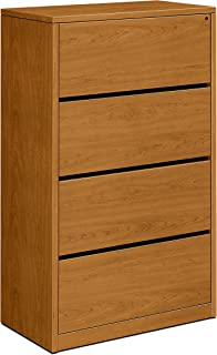 product image for HON 4-Drawer Lateral File Cabinet, 36 by 20 by 59-1/8-Inch, Harvest