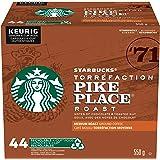 Starbucks Pike Place Roast Medium Roast, Ground Coffee, KEURIG Compatible K-Cup Pods, 44 Count