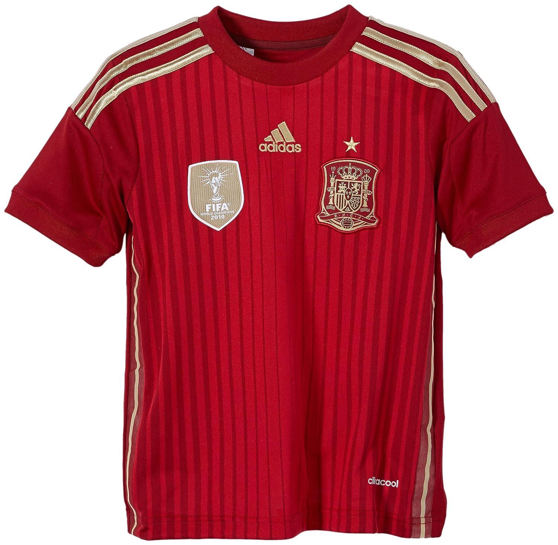 Adidas Selección Española de Fútbol - Camiseta de fútbol para niño, 2014, color rojo, talla 7 años (122-128 cm): Amazon.es: Deportes y aire libre