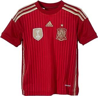 adidas Selección Española de Fútbol - Camiseta de fútbol para niño, 2014, Color Rojo