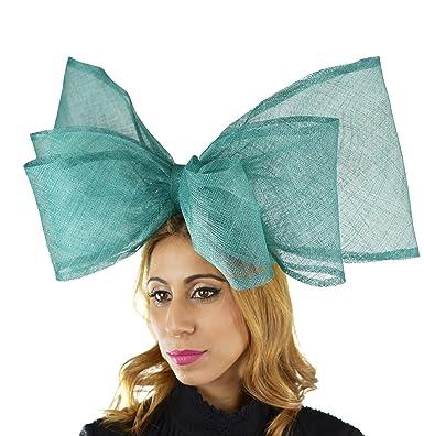 Ladies Kentucky Derby Ascot Wedding Fascinator Hat Jade Green ... aa51957c8bd