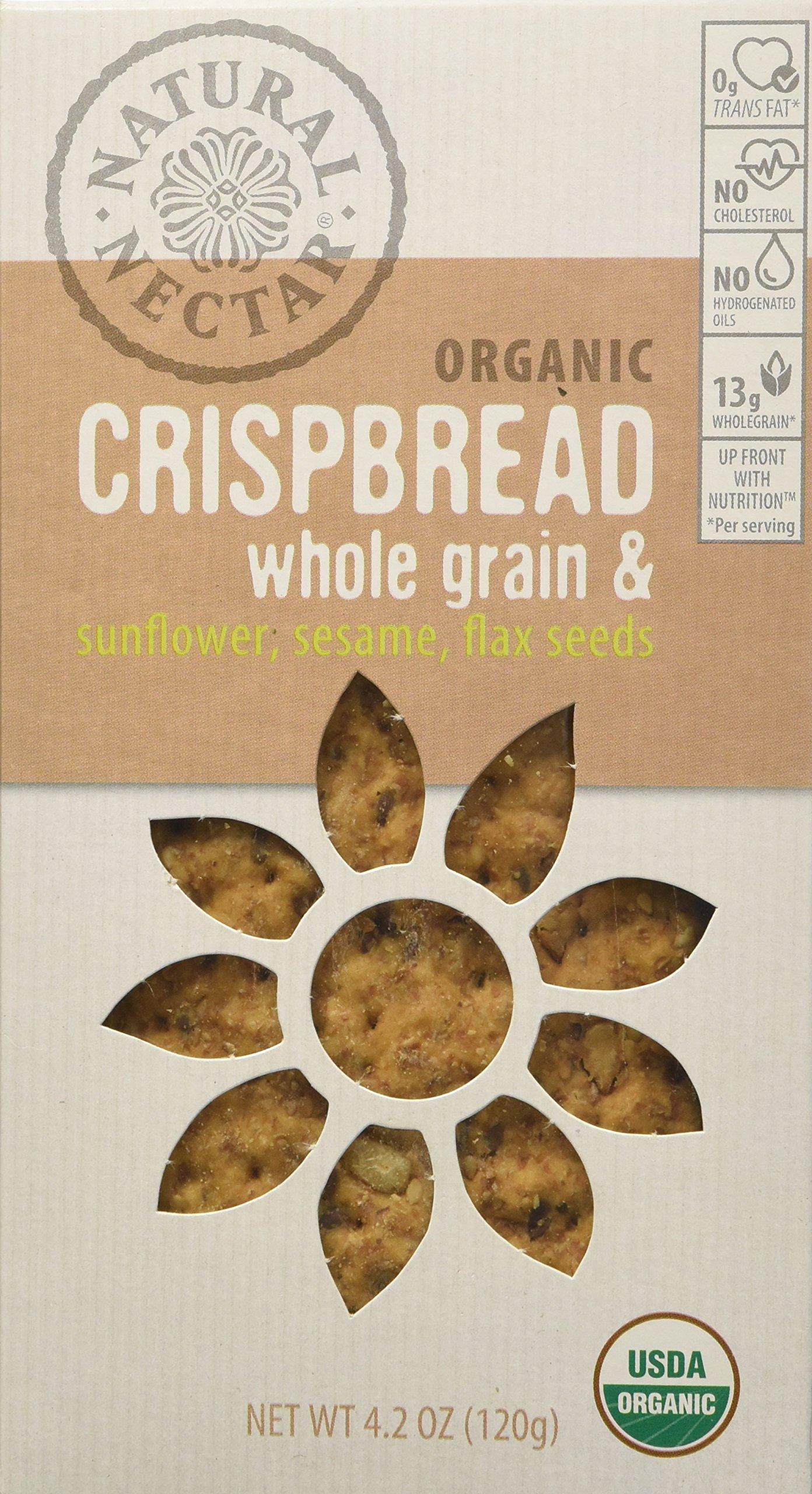 Natural Nectar Organic Crispbread, Whole Grain/Sunflower/Sesame/Flax Seed, 4.2 Ounce