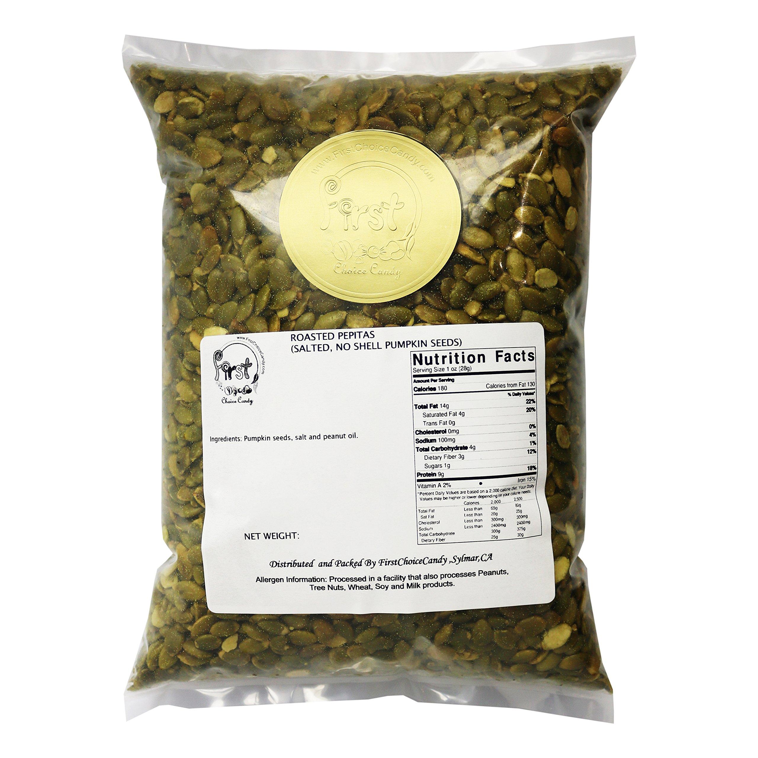 Pumpkin Seeds Pepitas Roasted/Salted 3 Pound Bulk Bag by FirstChoiceCandy