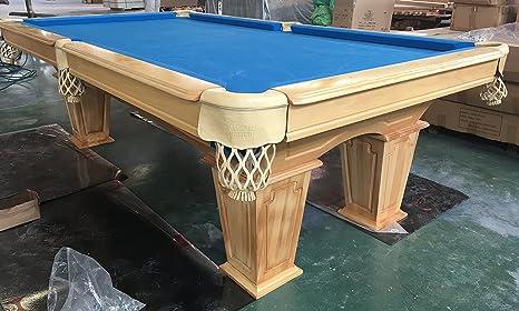 Table de billard de 8 pieds en bois massif avec planches d ...