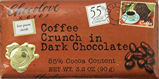 product image for Chocolove Coffee Crunch in Dark Chocolate, 3.2 Ounce (Pack of 12)