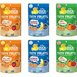 Little Duck Organics Tiny Freeze Dried Fruit Snack, Variety Pack, 6 Count