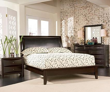Amazon.com: Coaster Phoenix 5 Piece Queen Panel Bedroom Set ...