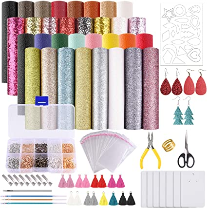 earring materials 6x8 Leather sheet for earring making BRIGHT PURPLE leather supplier DIY earring supplies embossed leather sheets
