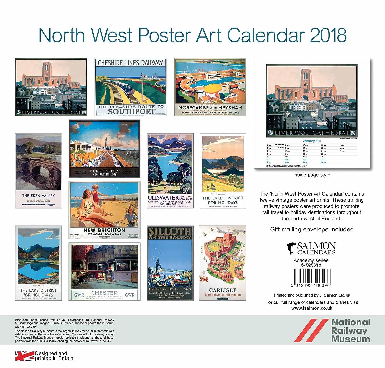 North West England Poster Art Calendar 2018
