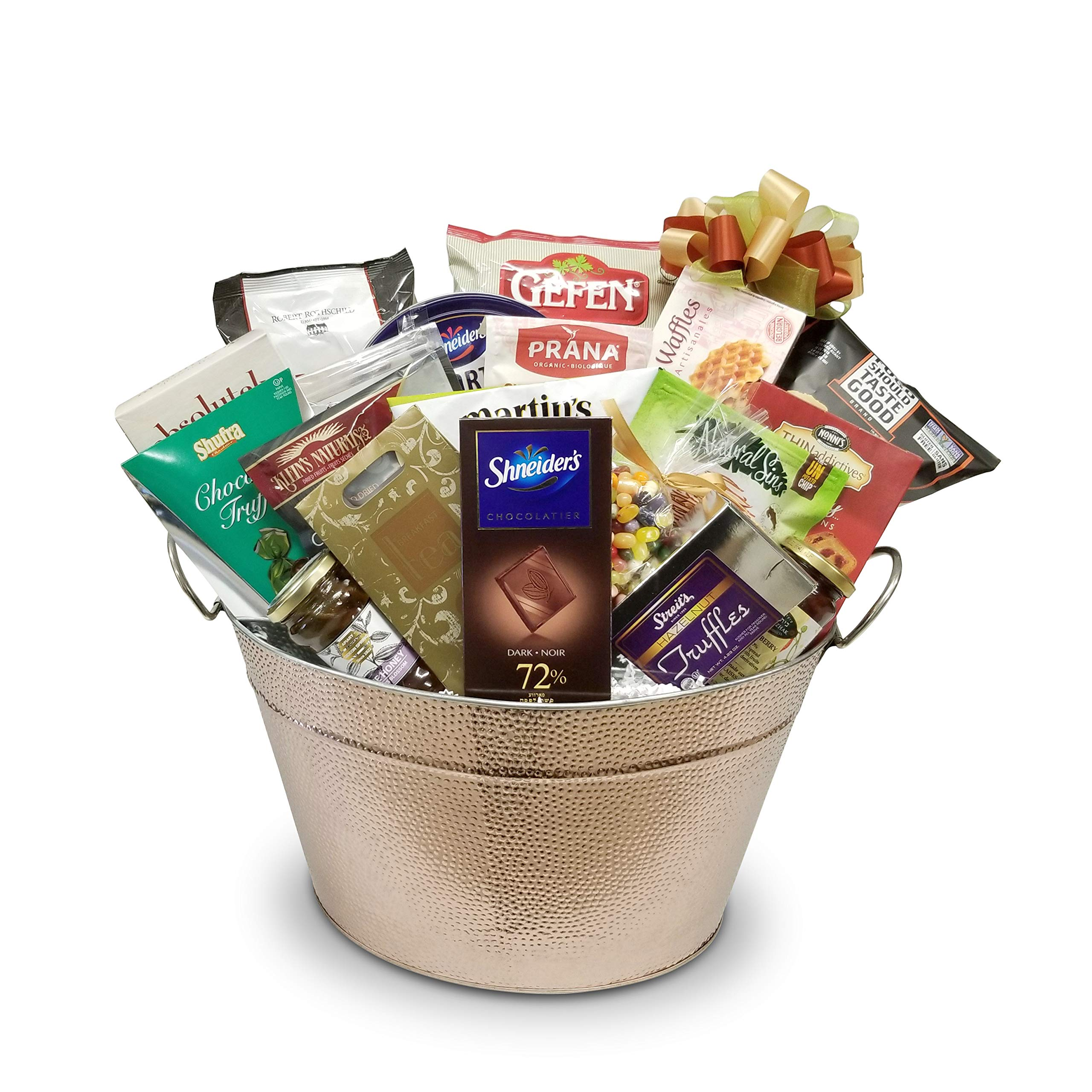 CDM product Rosh Hashana-Jewish New Year Kosher Gift Basket with Sweets, Apple Chips, Nuts, Honey Cookies, Chocolates and More big image