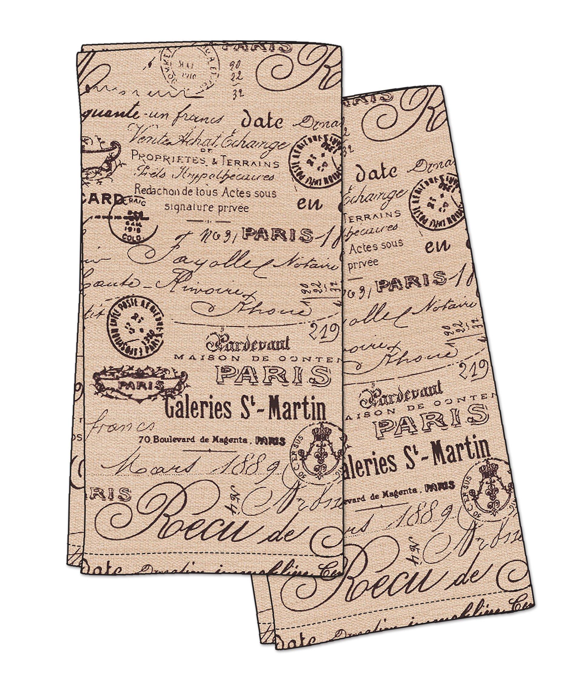 HOTEL Paris 1675 2PK K/TL Kitchen Towel, 20x28, Beige, 2 Piece