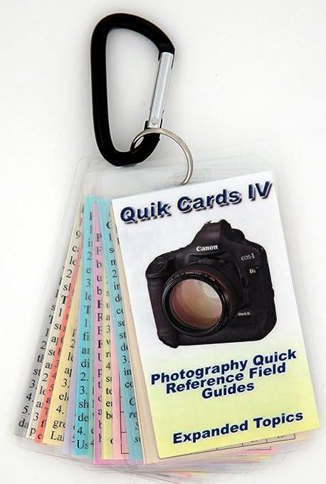 DSLR & SLR cheatsheets 4. Tamaño de bolsillo tarjetas de ...