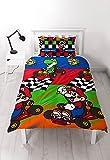 """Nintendo Bettbezugset """"Super-Mario"""", für Einzelbett, bedruckt mit sich wiederholendem Motiv"""
