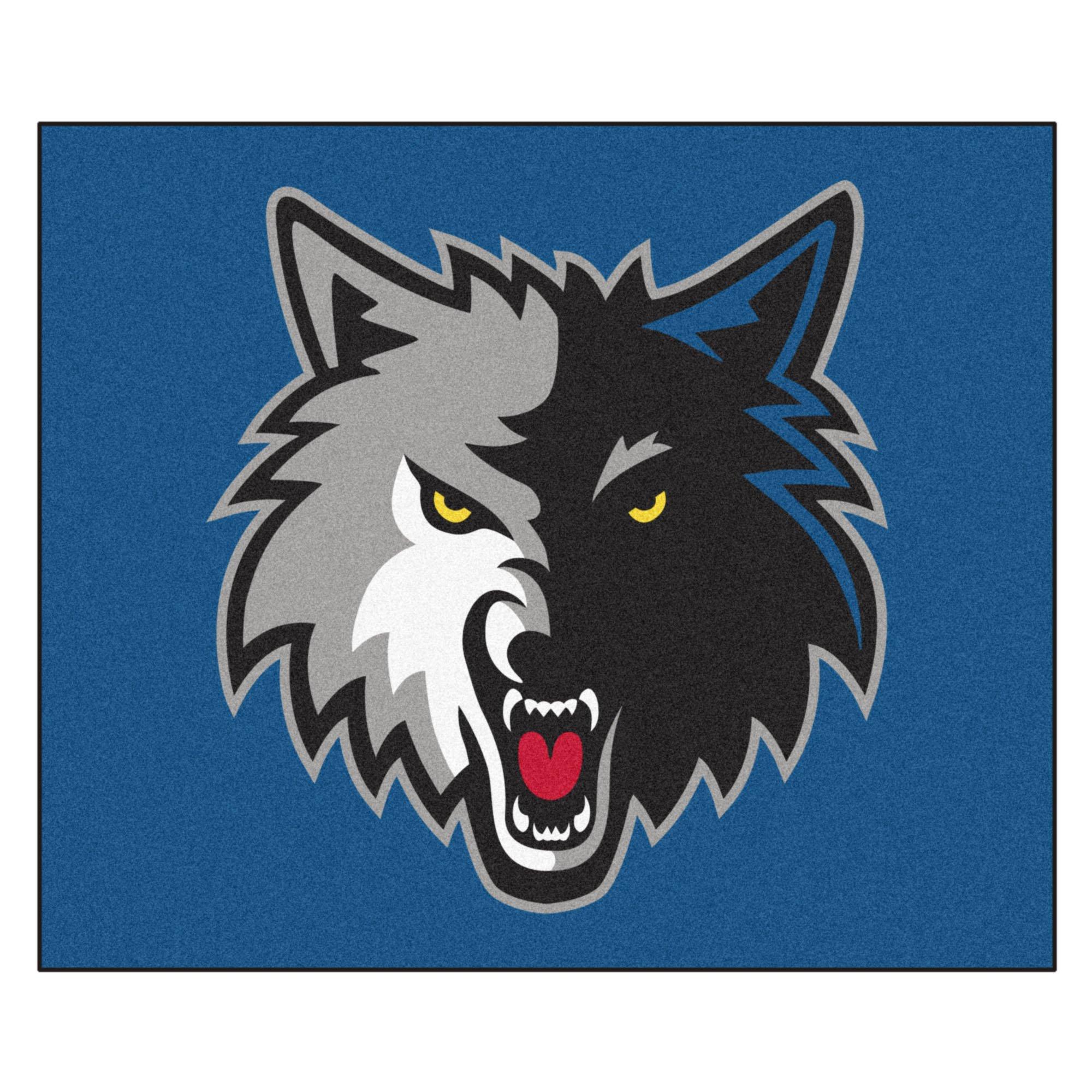 FANMATS 19456 NBA - Minnesota Timberwolves Tailgater Rug , Team Color, 59.5''x71''