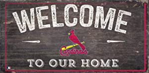 """Fan Creations St. Louis Cardinals 12"""" x 6"""" Distressed Welcome to Our Home Wood Sign"""