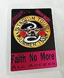 1992 Faith No More Foil All Access Metallica Guns n Roses Laminated Backstage Pass