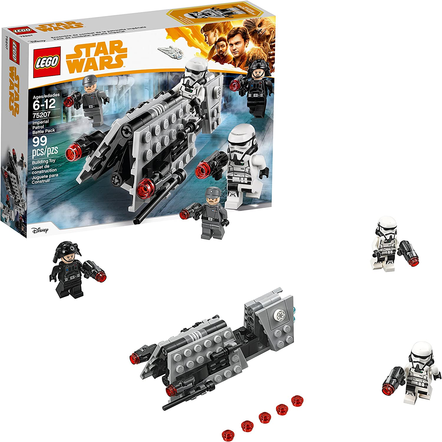 Amazon Com Lego Star Wars Imperial Patrol Battle Pack 75207 Building Kit 99 Piece Toys Games