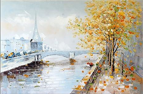 Astratto parigi immagine dipinto moderno in acrilico parisge