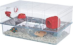 MidWest Homes for Pets Critterville Brisby Large Hamster Cage | Includes All Accessories, White