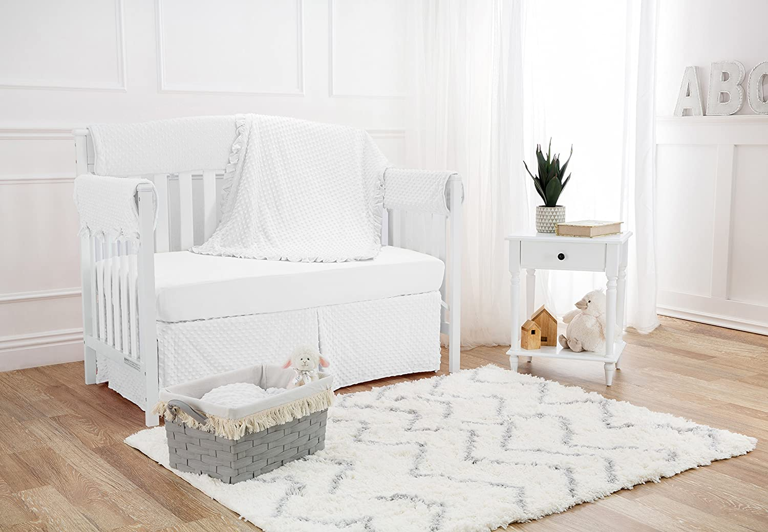 White American Baby Company Heavenly Soft 6 Piece Crib Bedding Set
