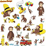RoomMates Childrenu0027s Repositonable Wall Stickers, Curious George Part 22