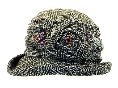 Cappoellas Sombrero lana lino cuadros