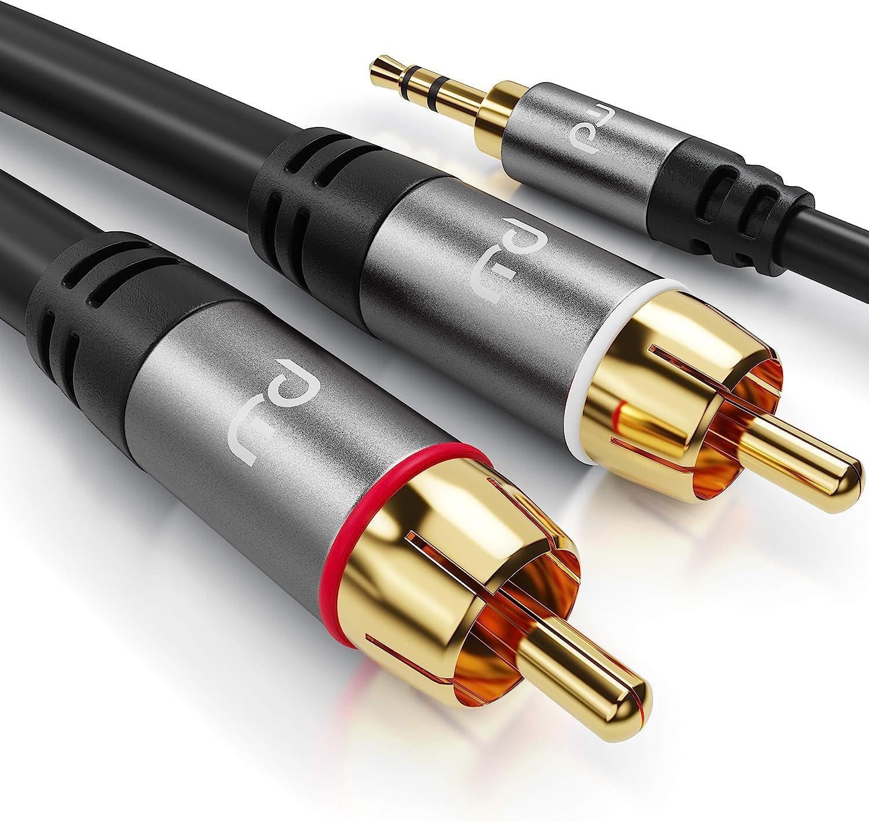Csl 5m Cinchkabel Stereo 3 5mm Klinke Zu 2x Cinch Elektronik