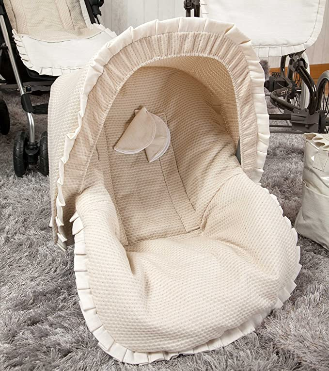 Babyline Destellos - Colchoneta para silla grupo 0, color beige