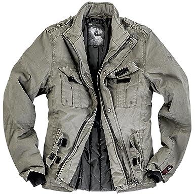 Rock Rebel by EMP Combat Jacket Veste olive  Amazon.fr  Vêtements et ... 8611cab1ee9b