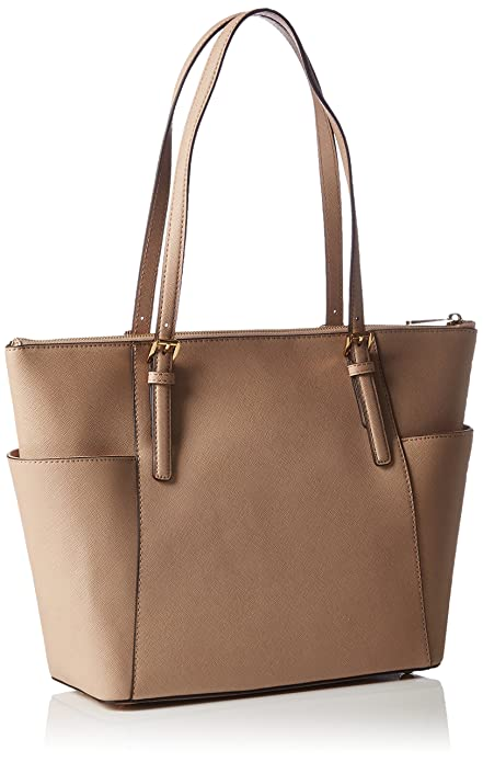 Michael KorsJet Set Top-Zip Saffiano Leather Tote - Bolsa de Asa Superior Mujer, Color Beige, Talla 30x27x11 cm (B x H x T): Amazon.es: Zapatos y ...