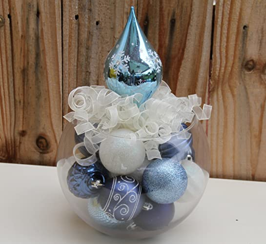 Amazon Com Blue Christmas Dreaming Winter Table Centerpiece